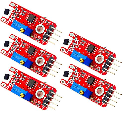 AZDelivery 5 x KY-024 Linear Magnetic Hall Effect Sensor Module for Arduino including eBook