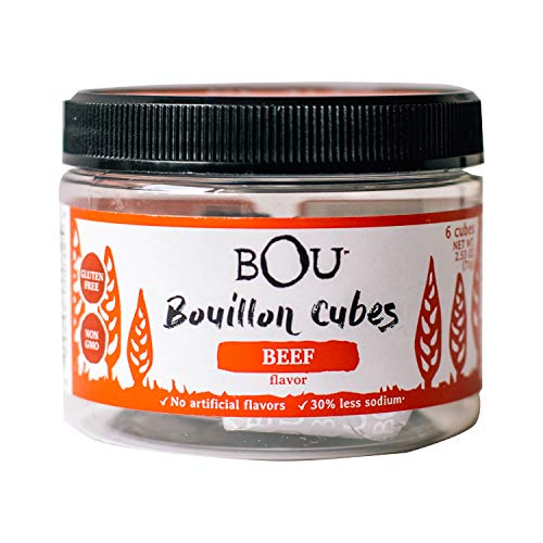Bou Bouillon Cubes, Beef Flavored, 2.53 Ounce (6 Count), Gluten Free, No Artificial Flavors
