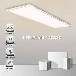 Aufputz-Rahmen Warmwei/ß Traf Blendfrei inkl Aufbauleuchte 50W Lumira LED Panel 120x30 cm