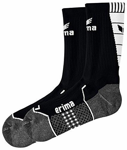 erima Herren Trainingssocken, schwarz/weiß, 4, 318609