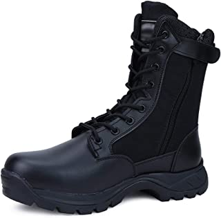 LUDEY Men's Breathable Military Boots Commando Outdoor Desert Tactical Boots Combat Boots Army Patrol Boots Security Polic...