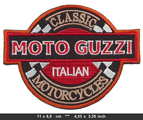 Moto Guzzi Aufnäher Patches Aufbügler Motorrad Biker Classic Italian Motorcycles