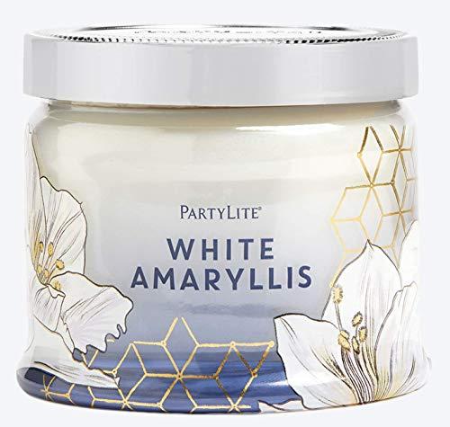 PartyLite Amaryllis 3 Wick Candle, White