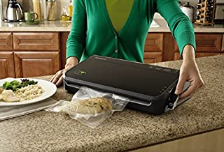 FoodSaver FM2100-000 Vacuum Sealer Machine System with Starter Bags & Rolls | Safety Certified
