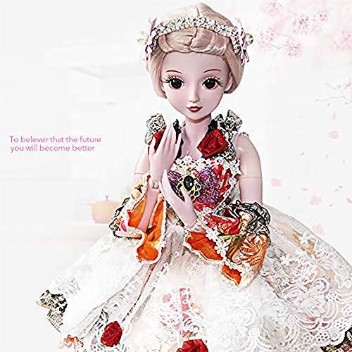 Realistisch Reborn Baby Puppe Nette langhaarige Prinzessin/kann die Kleidung wechseln / 23,6 Zoll, Kindergeschenke