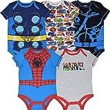 Marvel Avengers Baby Boys 5 Pack Short-Sleeve Bodysuits 0-3 Months