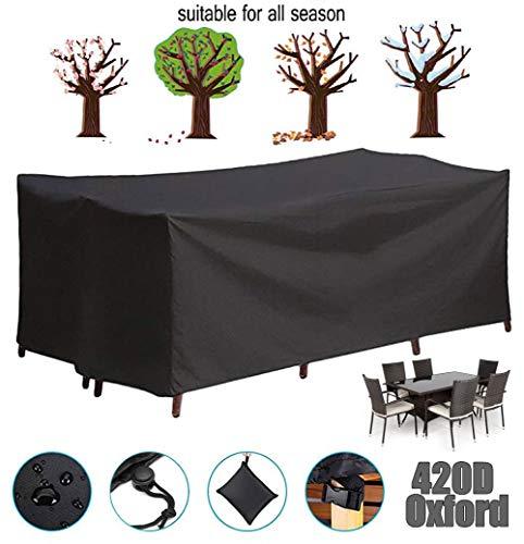 LWXTY Cubierta De Muebles Impermeable - Funda Mesa Jardin - Protector para Sofá Jardín con Funda para Sillas Mesa Patio Resistente Duradero,240x162x100cm/8x5x3ft