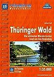 Hikeline Wanderführer Thüringer Wald. Die schönsten Wanderrouten rund um den Rennsteig, 1 : 35 000, wasserfest und reißfest, GPS zum Download