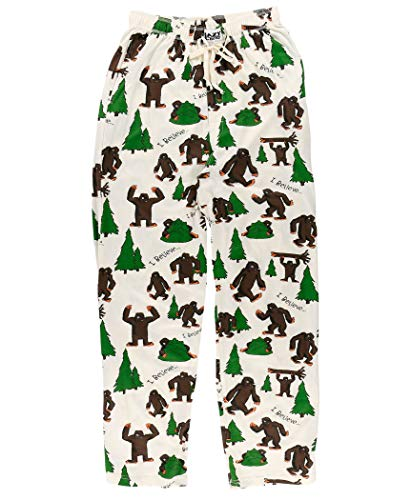 Lazy One Pajama Pants for Men, Men's Separate Bottoms, Lounge Pants, Funny, Humorous, Sasquatch (I Believe Bigfoot, Medium)