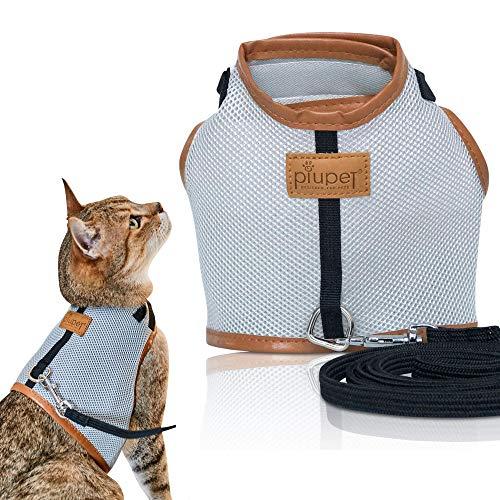 PiuPet Arnes para Gato Collar Seguro y Robusto (S)