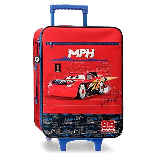Disney Cars Rocket Racing Maleta de Cabina Rojo 35x50x16 cms Blanda Poliéster 25L 1,8Kgs 2 Ruedas Equipaje de Mano
