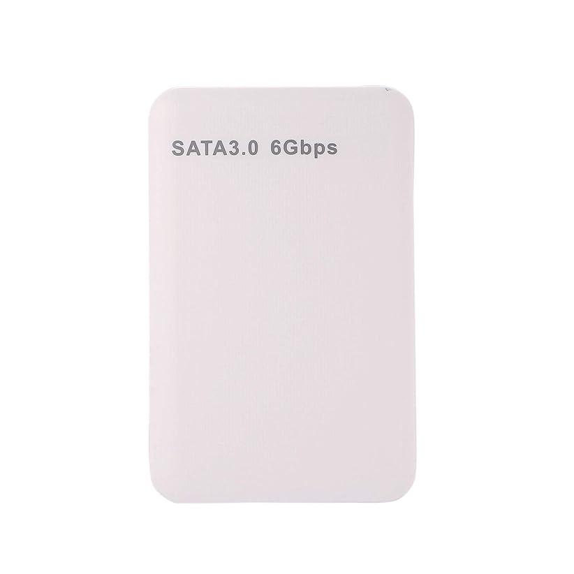 取り付けコモランマ毎週Noblik 2.5インチ、USB3.0 SATA 3.0 HDDハードディスク、ドライブボックス、外付け、HDDエンクロージャケースツール、6Gbpsサポート3TB UASPプロトコル-ホワイト