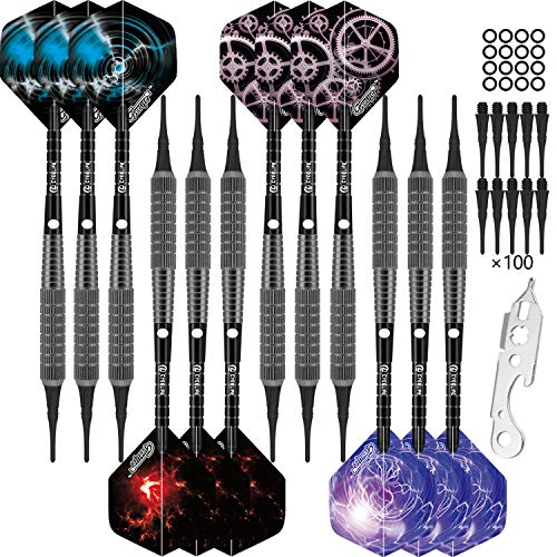 CyeeLife Professional Soft tip Darts Set 16...