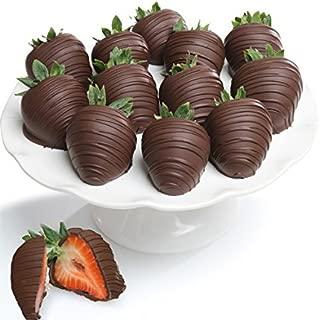 Belgian Dark Chocolate Covered Strawberries - 12 piece