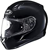 HJC Solid Mens CL-17 Full Face Motorcycle Helmet - Black/Large
