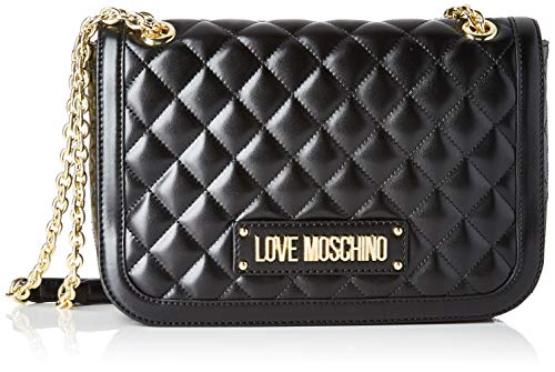 Love Moschino Borsa Quilted Nappa Pu, Tracolla Donna, (Nero), 19x6x28...
