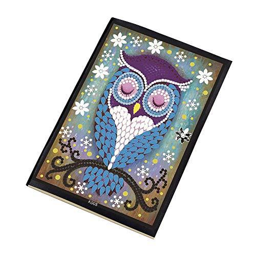 Aibecy Bricolaje con forma especial de pintura de diamante,cubierta,cuaderno,punto de cruz,diamantes de colores,diario de escritura,bloc de notas,libro,48 hojas,cumpleaños,arte,artesanía,regalo