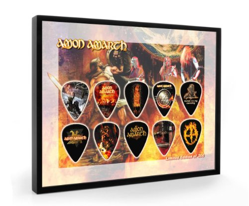 We Love Guitars Amon Amarth L200 Gitarre Plektrum Framed Gerahmt Display Gitarren Picks