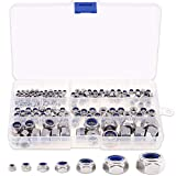 <span class='highlight'><span class='highlight'>Xigeapg</span></span> 185Pcs 304 Stainless Steel Metric Nylon Insert Lock Nut Assortment Kit - 7 Sizes: M3 M4 M5 M6 M8 M10 M12
