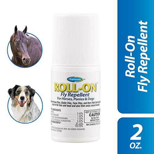 Farnam Roll-On Fly Repellent | For Horses, Ponies and Dogs | 2 oz