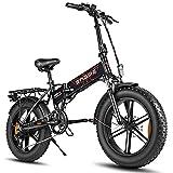 RUBAPOSM Bicicletas Eléctricas Plegables, Viaje Al Aire Libre de Bicicleta de Bici de Montaña Eléctrica Todo Terreno de 20 Pulgadas, Capacidad de Carga 120 kg, Puede Viajar 45 KM/H