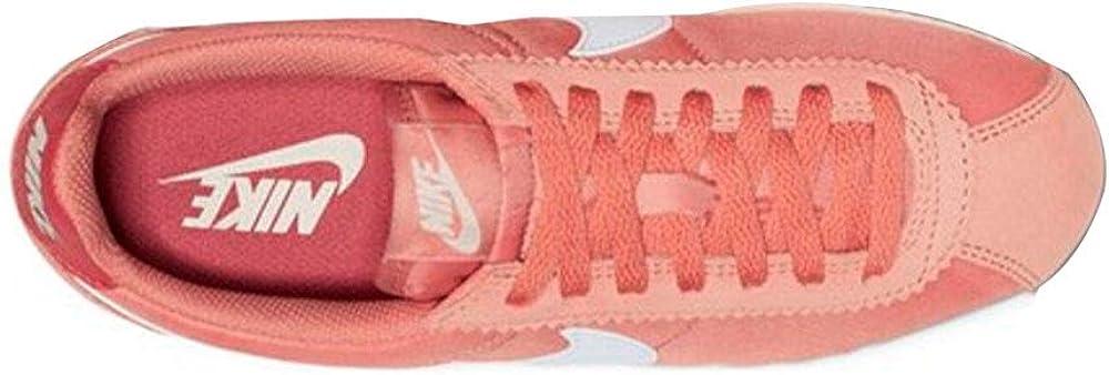 Nike WMNS Classic Cortez Nylon Womens Sneakers 749864-611, Rose Gold/Summit White-Light Redwood, Size US 7.5