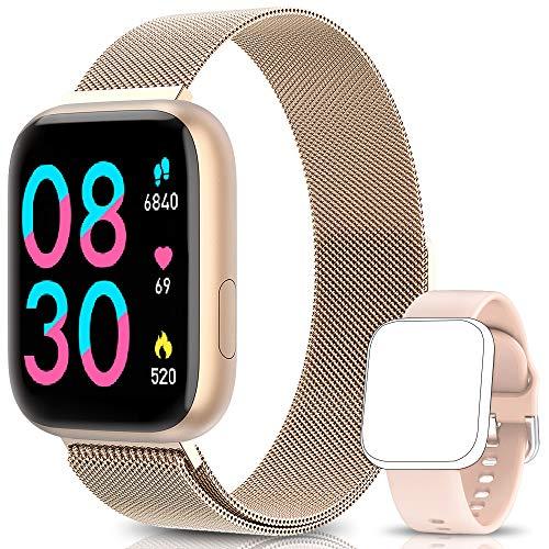 BANLVS Smartwatch Reloj Inteligente IP67 con Correa Reemplazable...