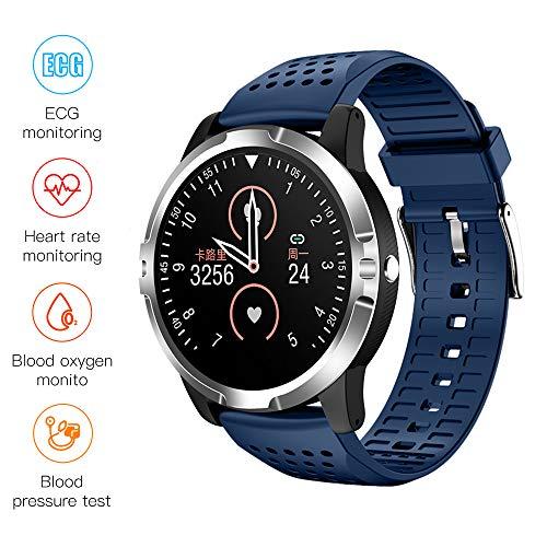 LCTS Health Smart Watch Wasserdichtes Sportarmband, HD-Farb-Touchscreen, Mit EKG-Blutsauerstoff-Blutdruck-Herzfrequenz-Schlafüberwachung,H