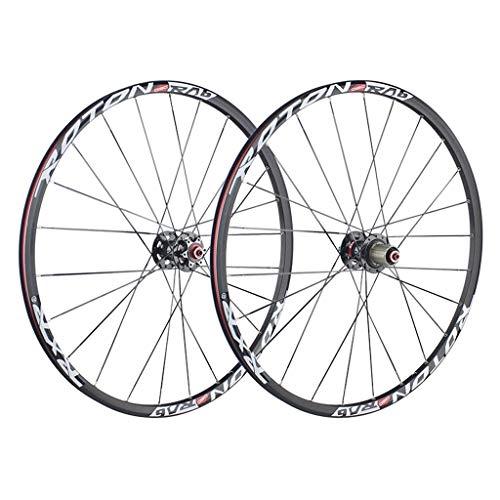 CHICTI Ruedas de bicicleta de 26 pulgadas, ruedas de bicicleta de doble pared, liberación rápida, rodamientos sellados, 24 agujeros 7/8/9/10 velocidades al aire libre (color : B, tamaño: 26 pulgadas)