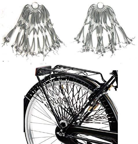 Retina / Paraveste elastica per bicicletta (coppia) - Scegli il Colore (Grigio)