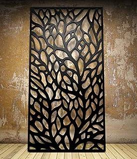 Lasaani WP043 Window ACP Wall Plaque Painted Cutout Stickable Home Decor Wall Art (Glossy Black)