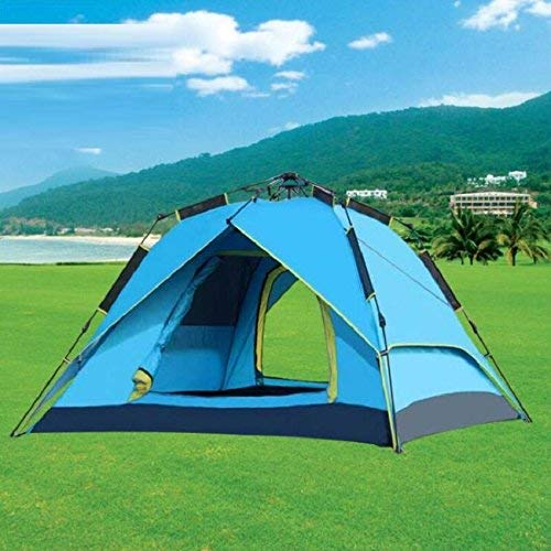 RYP Guo Outdoor Products Tentes de Camping automatiques à Pression atmosphérique extérieure, tentes 3-4 Personnes, écran Solaire imperméable à l'eau plaqué Argent Peint, tentes de Camping familiales,