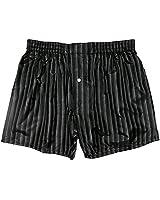 """Royal Silk Stripes Noir Silk Boxers Size XL - 37""""-38"""""""