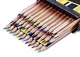 Solabela Triangular Cedar Wood Colored Pencils - Set of 36. Premium Quality Artist Set