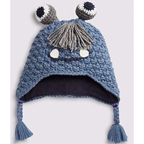 CHENGWJ Kinder Winter Hut Mützen Mütze Für Jungen Jungen Mädchen Kinder Frühling Herbst Winter Spezielle Große Augen Tier Cartoon Handgemachte Strickmütze
