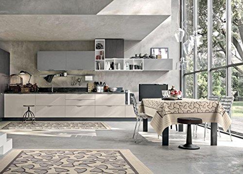 SOFFICIOSO Tappeto Passatoia da Cucina Retro Antiscivolo Fantasia Sweet By Suardi 55x140 cm Avorio
