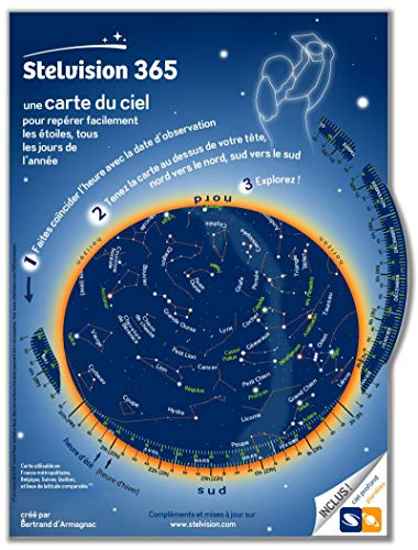 Stelvision 365 : Une carte du ciel pour repérer facilement les étoiles, tous les jours de l'année