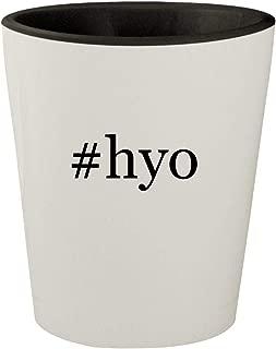 #hyo - White Outer & Black Inner Hashtag Ceramic 1.5oz Shot Glass
