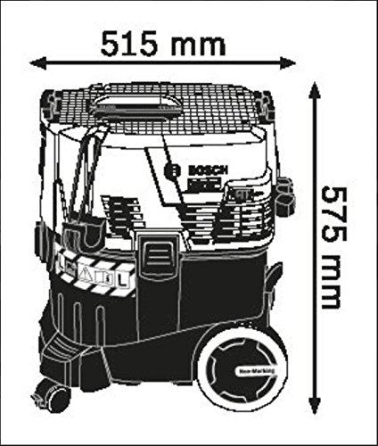 Bosch Professional GAS 35 L SFC+ - Aspirador seco/húmedo (1380W, capacidad 35l, manguera 3m, SFC+, 254mbar)