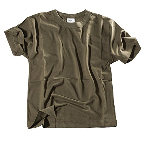 Bequemes US Army Style Kinder T-Shirt S-XXXL (XL (158/164), Oliv)