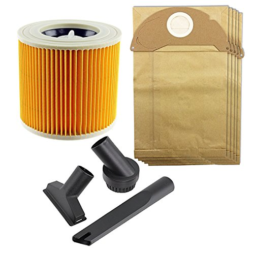 Spares2go Mini outil Brosse de nettoyage et sacs à poussière et kit de filtres pour Karcher A2064pt Wd2200 Wd2.240 Wet & Dry Aspirateur