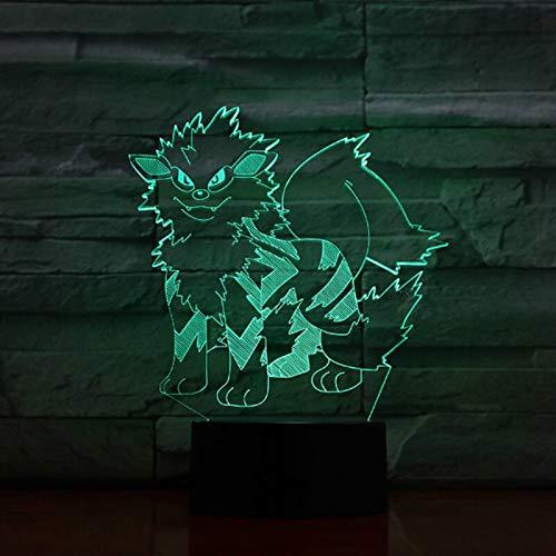 Decoración única del hogar imágenes de animación de dibujos animados luz nocturna 3D adornos LED lámpara de mesa pequeña USB Halloween luz visual atmósfera de regalo