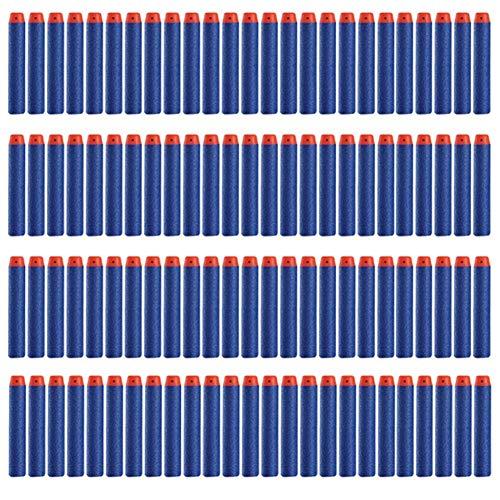 Aisoway Spielzeug Schaum Weiche Kugel 50 Stück 2,84 Zoll Universal-Dart Supplement Weicher Kopf Kugel Multicolor Soft-Kugeln (blau)