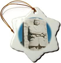 3dRose ORN_143502_1 Martin Luther King Jr Memorial, Washington Dc, USA Us09 Lfo0144 Lee Foster Snowflake Ornament, Porcela...