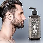 Beard Wash Shampoo w/Argan & Jojoba Oils - Softens & Strengthens - Natural Peppermint and Eucalyptus Scent - Beard… 5