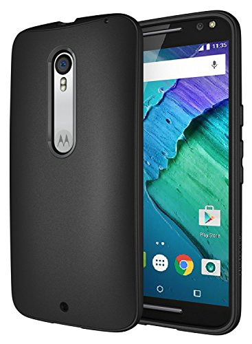 Diztronic Moto X Pure Case, Full Matte Slim-Fit Flexible TPU Case for Motorola Moto X Pure Edition & Moto X Style (2015) - Black - (MPR-FM-BLK)