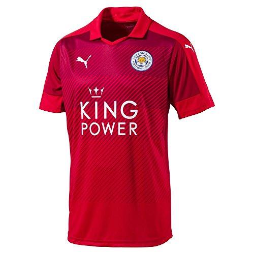 PUMA Leicester City Away 2016/2017 - Maglia da Uomo, Uomo, Maglia da Trasferta, 897473, Colore: Rosso, 56-58