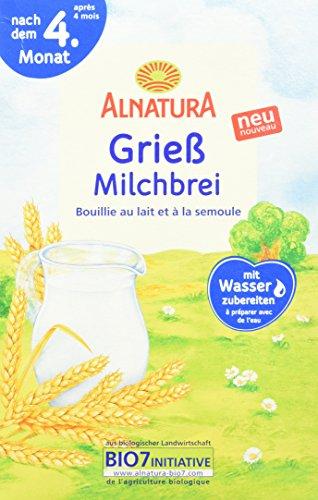 Alnatura Grieß Milchbrei, 6er Pack (6 x 250 g)
