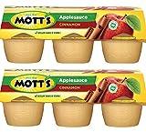 Mott's Cinnamon Apple Sauce 6 - 4 oz cups (Pack of 2)