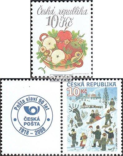 république tchèque mer.-no.: 580,582Zf avec Ornement (complète.Edition.) 2008 Noël (Timbres pour Les collectionneurs) Noël